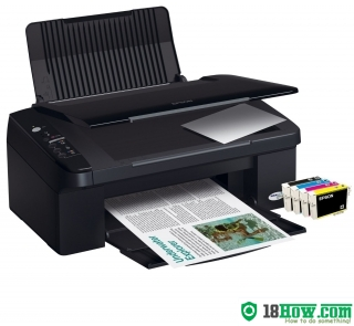 How to reset flashing lights for Epson SX105 printer