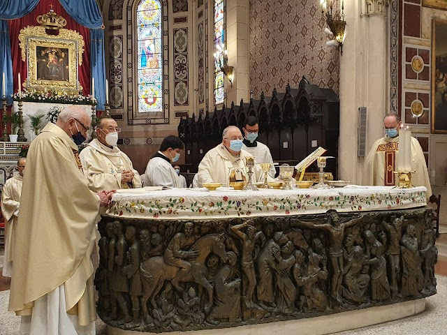 La diocesi in festa per il compleanno dell'arcivescovo Morosini