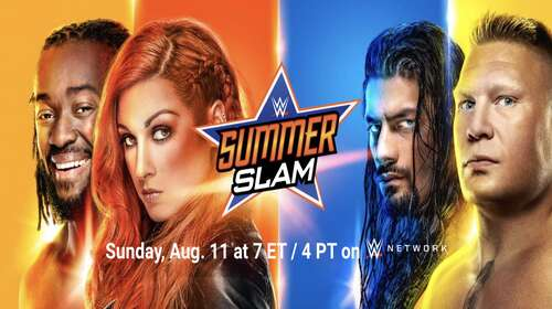 Poster Of WWE SummerSlam 11th August PPV 2019 HDTV 480P 300MB