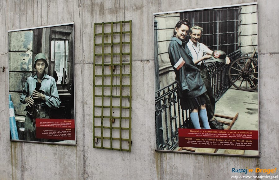 muzeum powstania warszawskiego - wystawa zdjęć w ogrodzie różanym