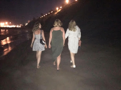 Evening beach walks