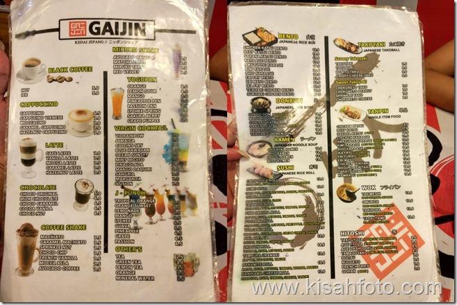 List menu