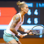 STUTTGART, GERMANY - APRIL 17 : Polona Hercog in action at the 2016 Porsche Tennis Grand Prix