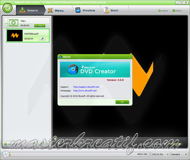 iSkysoft DVD Creator 4