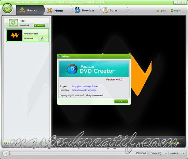 iSkysoft DVD Creator 6.1.2.78 Crack Plus Key Full Version