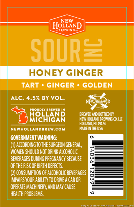 New Holland - Sour Inc - Honey Ginger Sour Ale