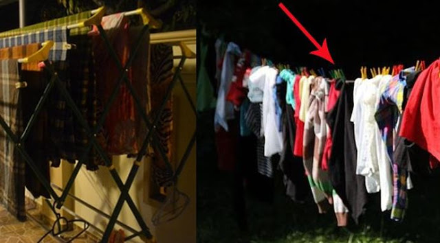 Awas Jangan Coba-coba Menjemur Pakaian diliuar Pada saat Malam Hari
