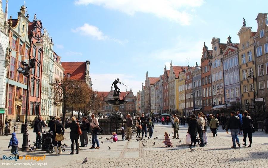 Gdańsk Długi Targ z Neptunem