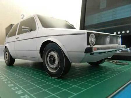Volkswagen Golf Mk1 Papercraft