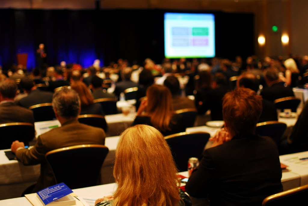 Lawyers listen to a plenary session in the 34th annual ABA Forum on Franchising conference held in Baltimore