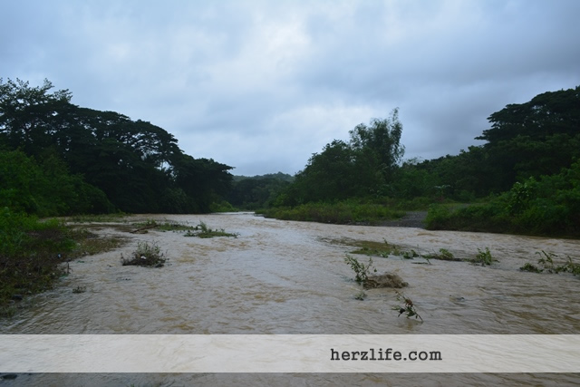 Flooded River after Typhoon Nona