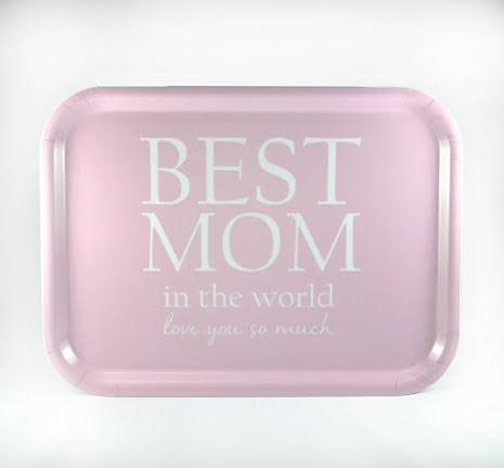 Bricka - Best mom - rosa/vit