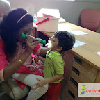 HEALTH CHECK-UP OF NURSERY AND JR KG SECTION (2017-18) AT WITTY WORLD, BANGUR NAGAR