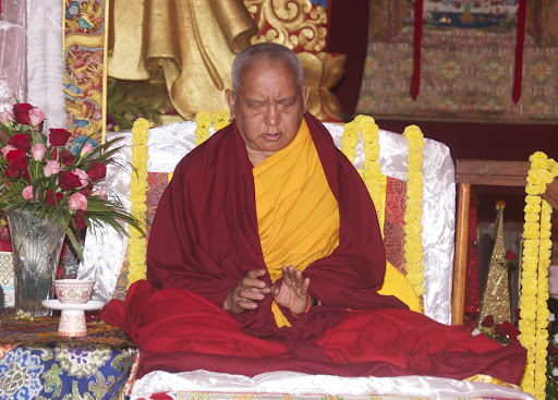 Long life puja offered to Lama Zopa Rinpoche, Bodh Gaya, India, January 2012.