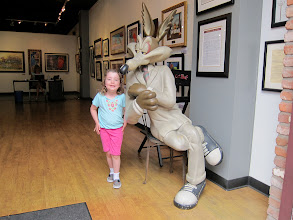 Photo: Fianna and Wiley Coyote at Disneytown, 2013