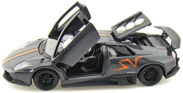 Mô hình Murcielago LP670-4 SV China Limited Edition màu đen tỷ lệ 1/24 Bburago mở được cánh cửa, cốp và nắp capo