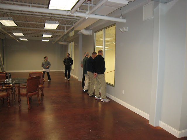 The gallery space upstairs will be built out further to add a yoga space, exercise area, and some seating.