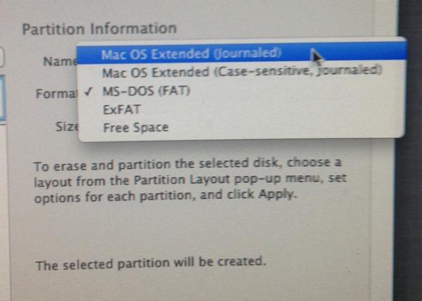 Partion disk format