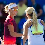 Kirsten Flipkens, Dominika Cibulkova in action at the 2016 Australian Open