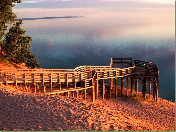 Sleeping Bear Dunes NLS Pierce Stocking Drive Sign 9 Lake MI Overlook Sunset DS 06-10
