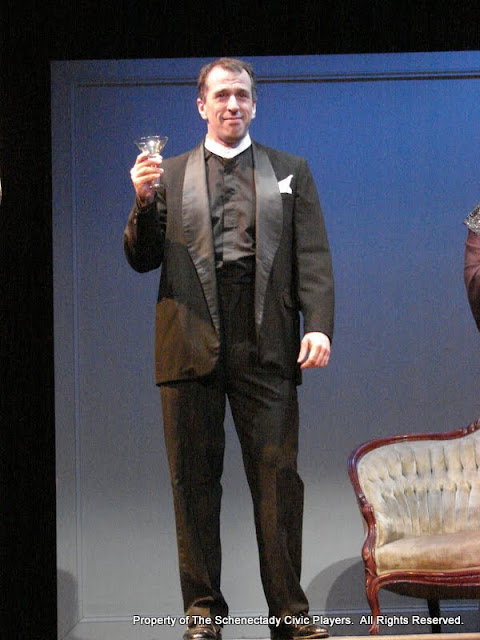 """Tim Orcutt in """"Mystery at Twicknam Vicarage"""" as part of THE IVES HAVE IT - January/February 2012.  Property of The Schenectady Civic Players Theater Archive."""
