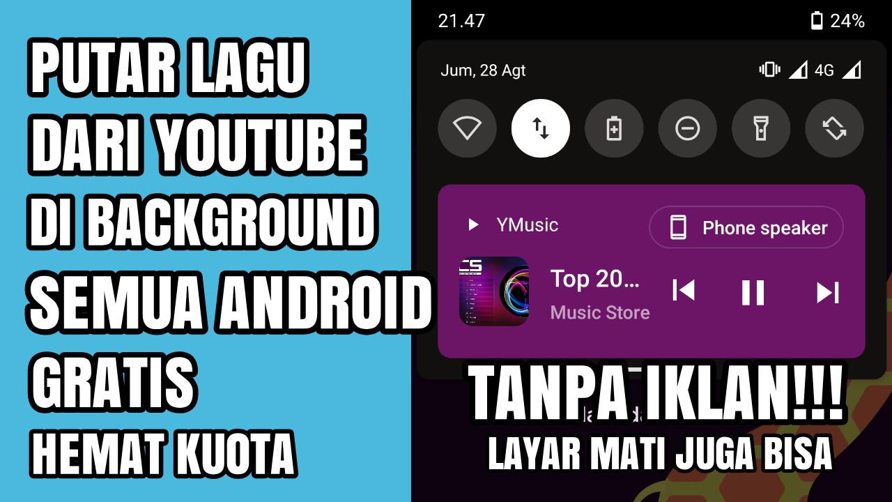 Cara Putar Lagu Youtube Tanpa Iklan Di Latar Belakang Cara Android