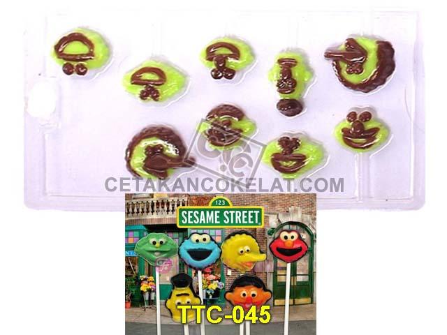 cetakan cokelat coklat Sesame Street Elmo Big Bird