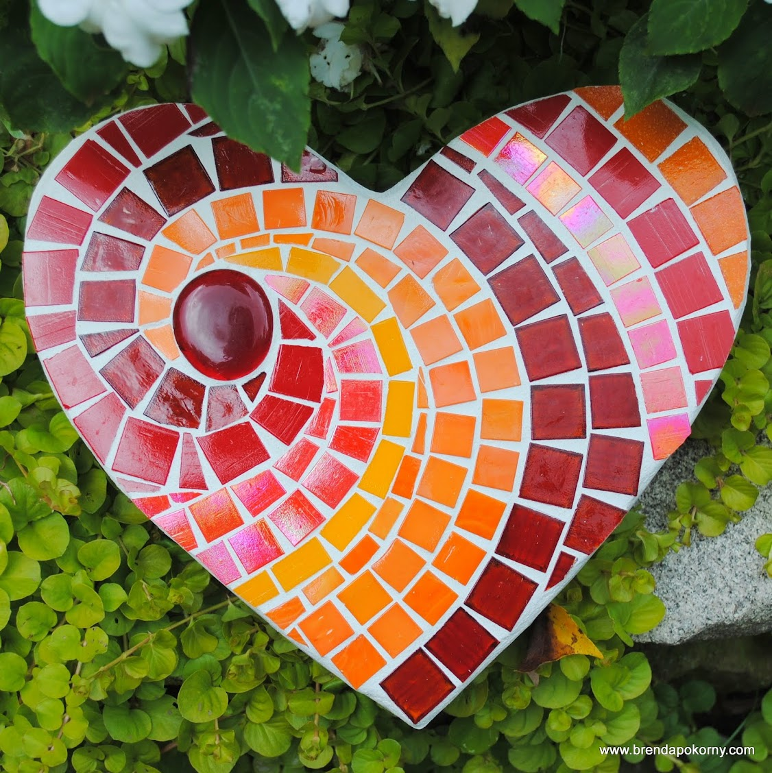 Hot Hot Heart Mosaic Stepping Stone Moo5045 Beads Amp Pieces