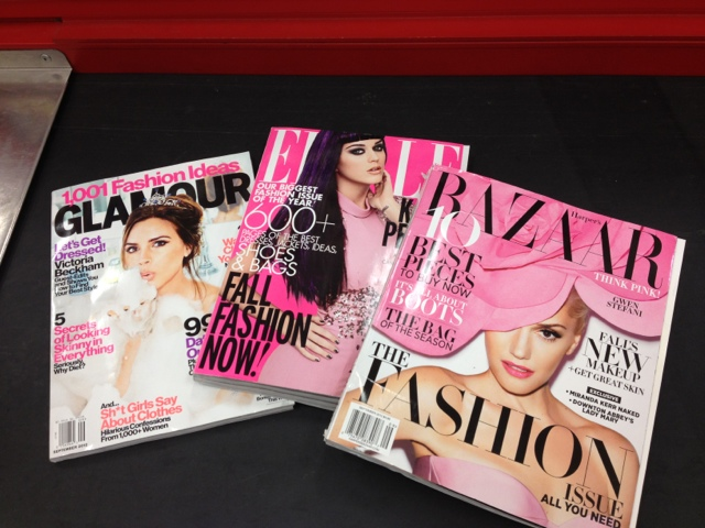 Glamour, Elle, and Harpers Bazaar September Issues