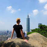gorgeous view of Taipei on a sunny day from Elephant Mountain in Taipei, T'ai-pei county, Taiwan