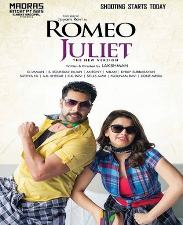 Poster Of Romeo Juliet Full Movie in Hindi HD Free download Watch Online Tamil Movie 720P