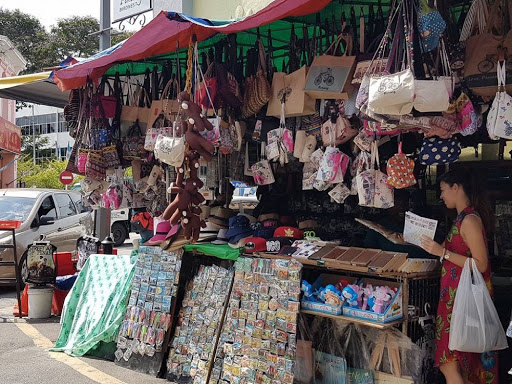 Street market at Georgetown in Penang Malaysia