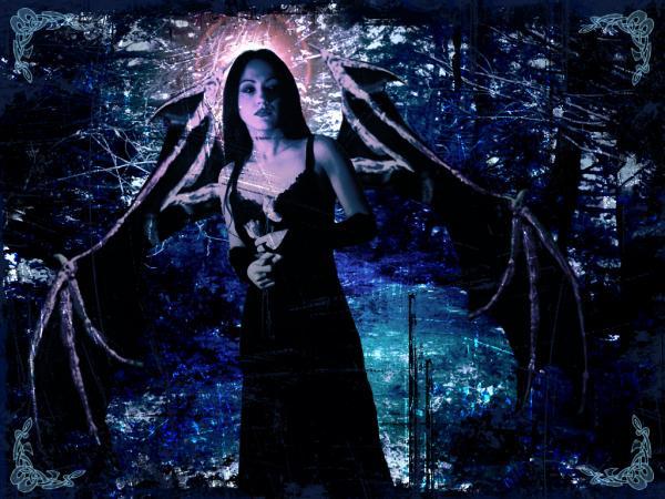 Fallen Angel With Dark Vampire Wings, Angels 1