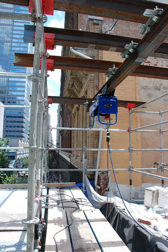 scaffold equipment swinging