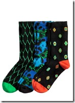 Kenzo for H&M patterned socks three pack