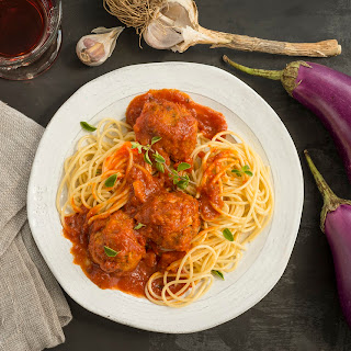 Eggplant and White Bean Meatballs