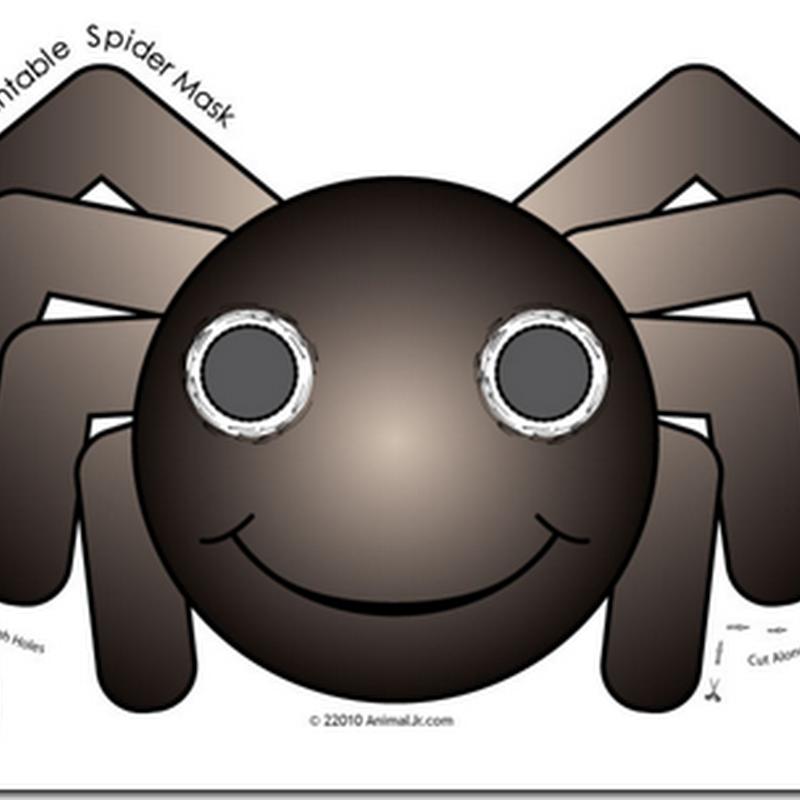 Máscara araña color y colorear