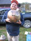 Proud Papa, Jordan Becker from Salem Art Works with his Lg. side fired jar
