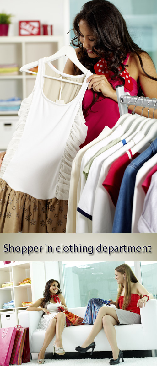 Stock Photo: Shopper in clothing department