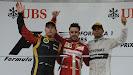 2013 Chinese F1 GP podium: 1. Alonso 2. Raikkonen 3. Hamilton