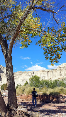 Plaza Blanca is 1 hour away from Santa Fe. Plaza Blanca, known also as the White Place, is a magical area located near Abiquiu, NM that inspired Georgia O'Keeffe.