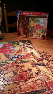 Farm puzzle being put together
