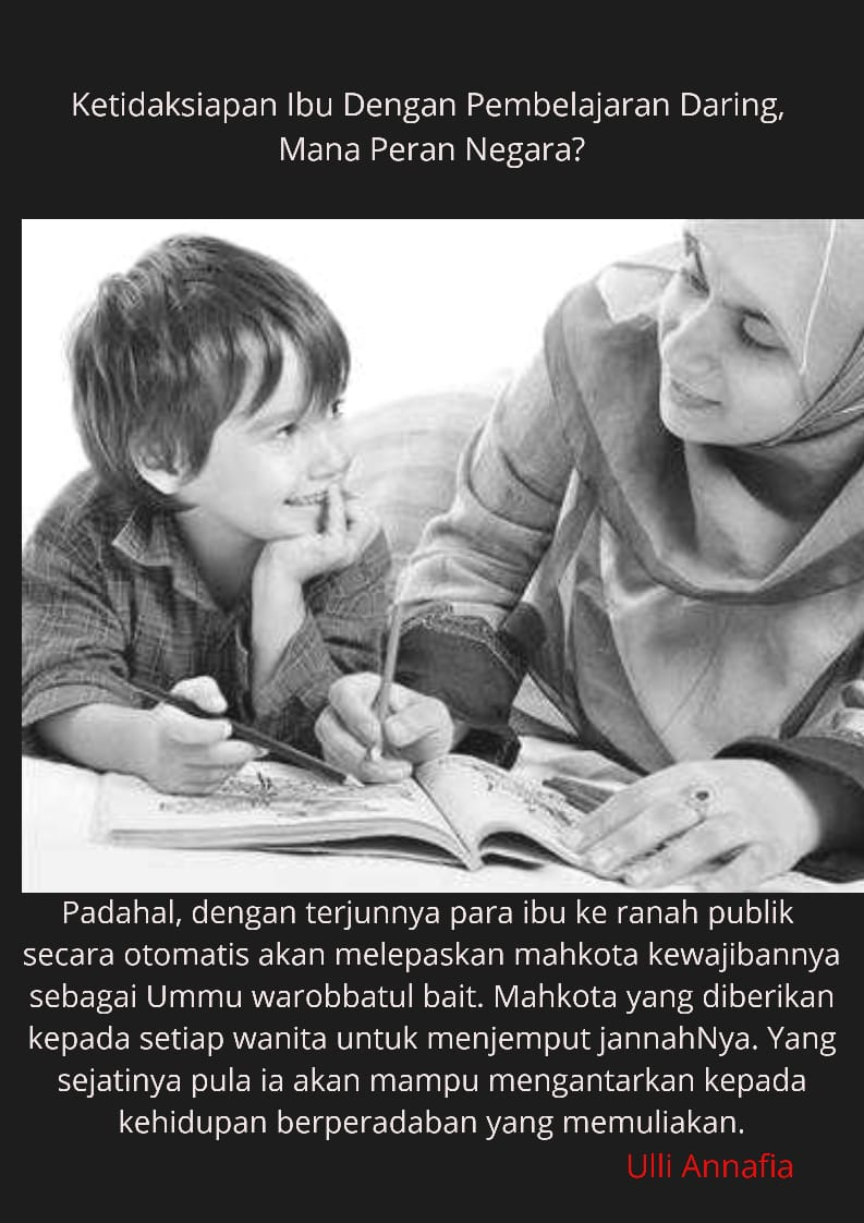 Ketidaksiapan Ibu Dengan Pembelajaran Daring, Mana Peran Negara?
