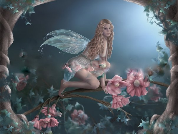 Fairy On The Rose, Fairies Girls