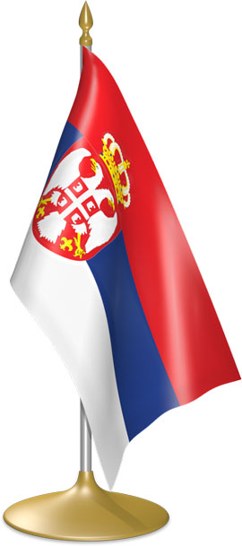 Serbian table flags - desk flags
