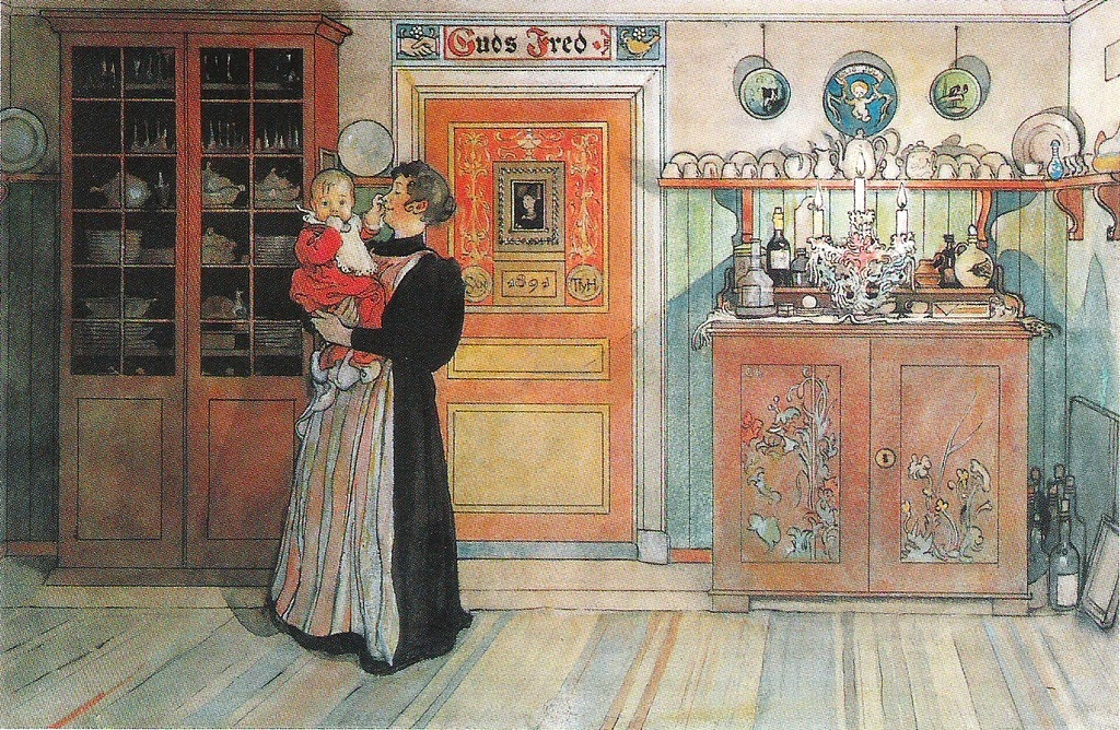 Carl Larsson - Mellan jul och nyår - Ett hem - Between Christmas And New Year.1899