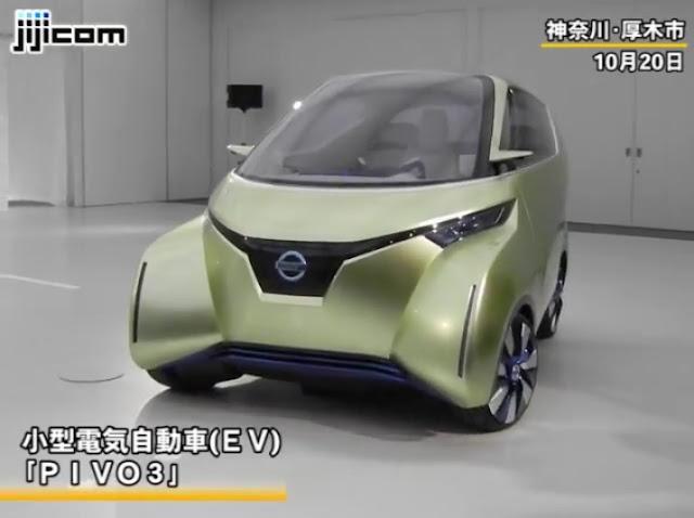 日産の新EV「PIVO3(ピヴォ3)」、降りたら自動で駐車→充電(動画あり)