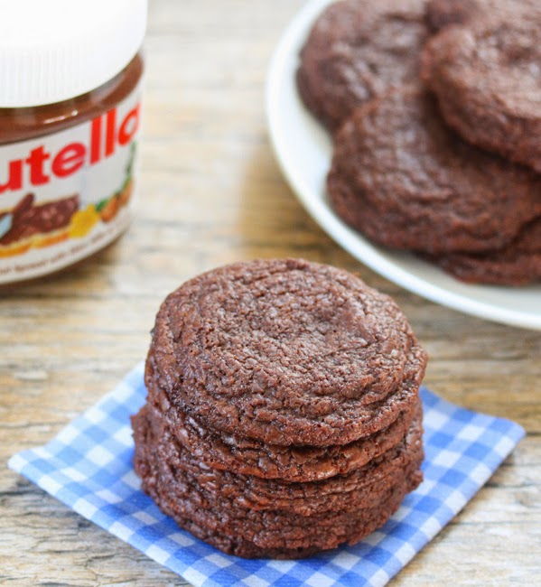4 Ingredient Chewy Nutella Cookies Kirbie S Cravings