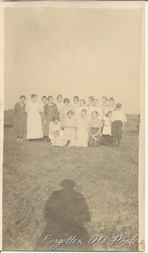 Group of women and children Solway antiques