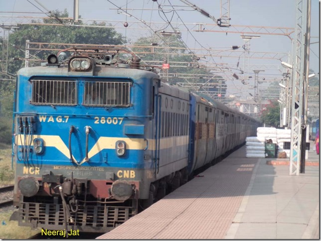 WAG-7 of Kanpur standing at Itwari